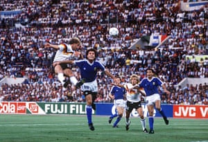 1990 world cup final: Rudi Voller goes close with a header