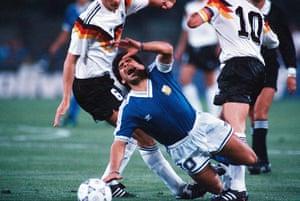 1990 world cup final: Maradona fouled