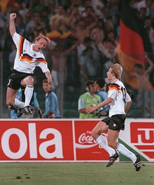 1990 world cup final: Andreas Brehme celebrates
