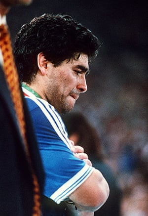 1990 world cup final: Maradona cries