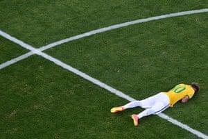 Best of the World Cup..: Brazil's forward Neymar celebrate