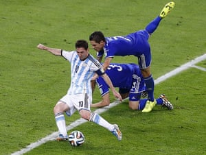Best of the World Cup..: Argentina's Messi shoots to score