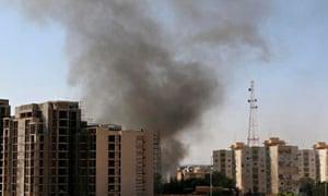 Tripoli airport smoke fighting Libya