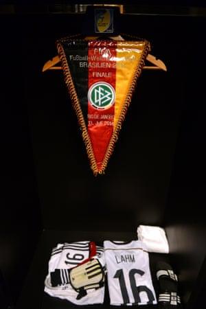 Philipp Lahm's kit plus match pennant