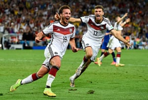 footy.: Germany's Goetze celebrates