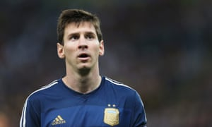Lionel Messi looks shellshocked.