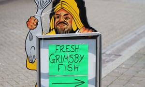 The real deal …a fishmongers in the actual Grimsby