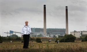 Thurrock MP Jackie Doyle-Price outside Tilbury power station.