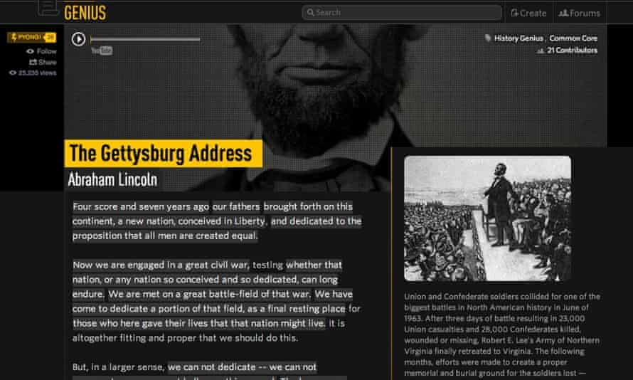 Besides rap, Genius now offers annotated history, sports and literature documents.