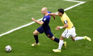 Arjen Robben is Owe Gibson's player of the tournament for the way he dragged an average Holland side to thrid place.