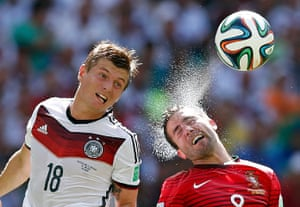 sport: Germany's Kroos and Portugal's Moutinho