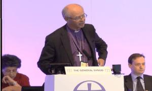 James Langstaff, bishop of Rochester, addresses General Synod.