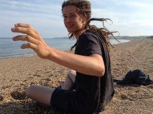 Babette gallery: James on beach