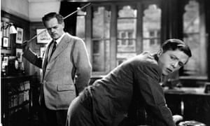 Cecil Trouncer and Richard Attenborough in the 1948 film, The Guinea Pig