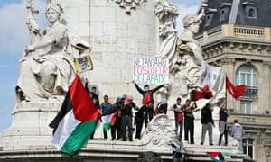 Paris anti-Israeli protest