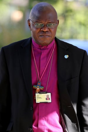 Bishop of York John Sentamu arrives for the Church of England General Synod in York.
