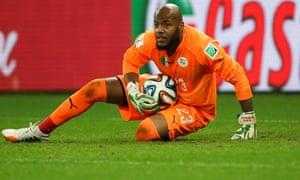Algeria goalkeeper Rais M'Bolhi.