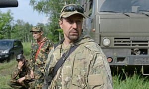 Alexander Khodakovsky, commander of the Vostok battalion, near Donetsk, eastern Ukraine, on 1 June 2014.