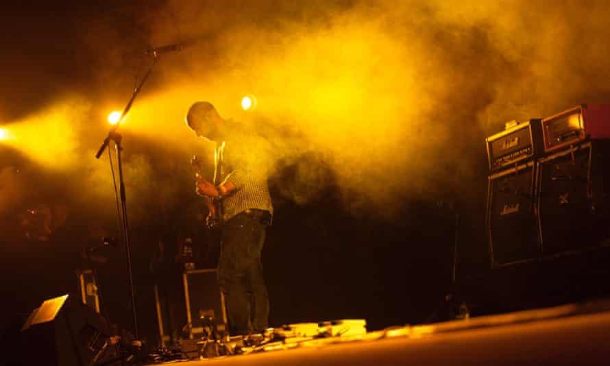 Mogwai perform at the 2014 Roskilde Festival.