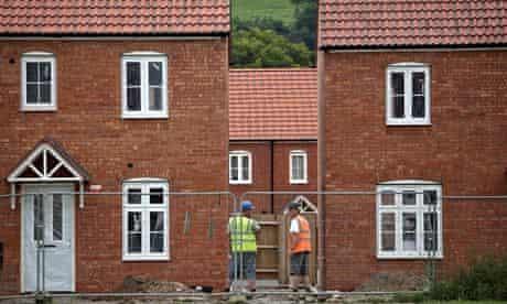 A housing estate built on the green belt in Glastonbury, Somersetings