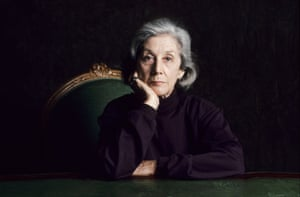 South African author Nadine Gordimer pictured in 1993 while in Paris to promote My Son's Story.