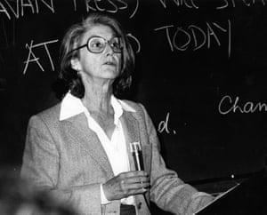 July 28, 1980: South African writer, novelist and political activist Nadine Gordimer.
