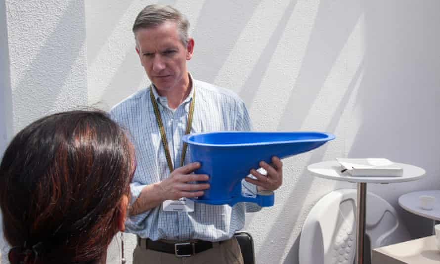 Demo of a reinvented toilet
