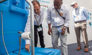 Demonstrating a reinvented toilet