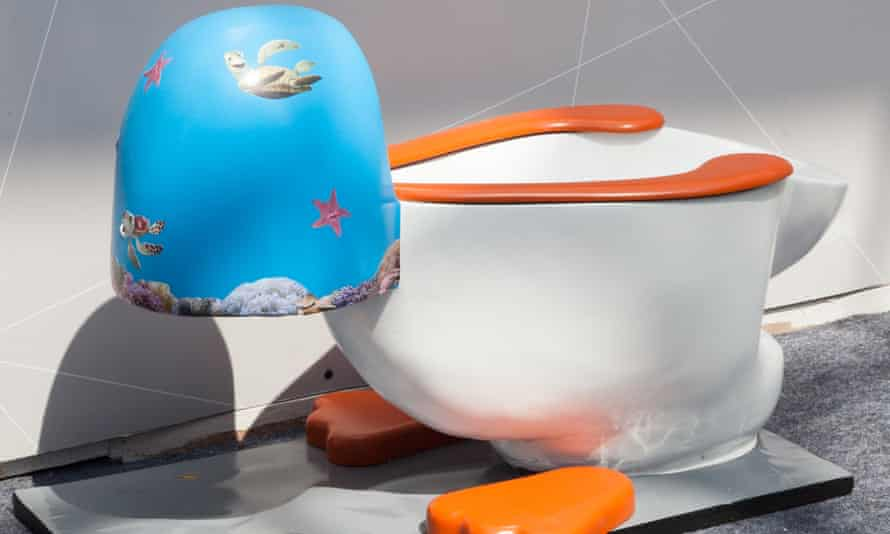A whimsical toilet