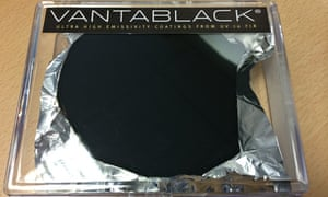 Vantablack, a fabric for military and astronautical use created by Surrey NanoSystems