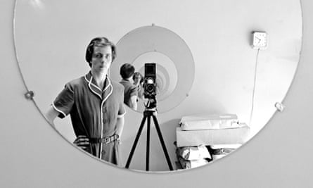 Vivian Maier Maloof Collection Self Portrait Round Mirror Repeating Image