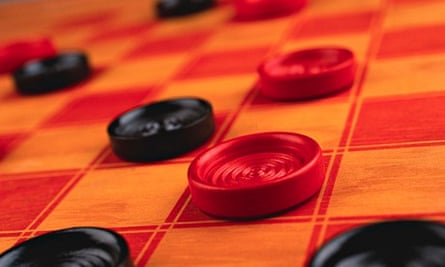 A draughts board. Playing draughts may boost brain volume in areas involved in Alzheimer's disease