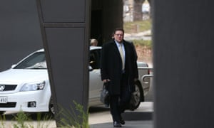 PUP senator Glenn Lazarus arrives for a morning meeting at their press club offices in Canerra, Tuesday 15th July 2014