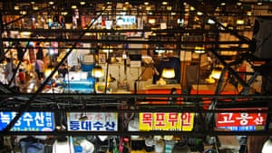 18 Noryangjin (Noryangjin Fish Market) – The country's largest fish market, the 24-hour Noryangjin puts two things on ready display: the peninsula's close relation with the seas surrounding it, and the blue-collar work ethic that underlies the city's newfound glitz.