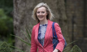 Liz Truss, the new environment secretary, arrives in Downing Street on Tuesday morning.