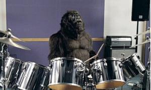 Cadburys Dairy Milk TV advert featuring a gorilla playing the drums - Sept 2007