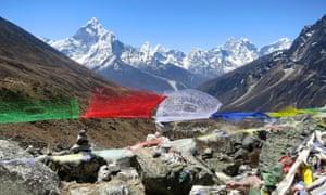 Everest base camp trek: the view from Dughla pass