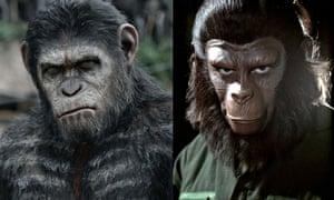 Andy Serkis/Roddy McDowall Apes