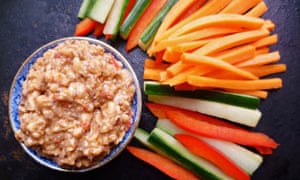 Leftover carrots recipe - Carrot and cucumber with gado-gado sauce