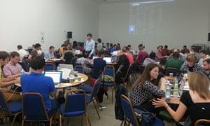 The Guardian's Digital Development team, hacking away