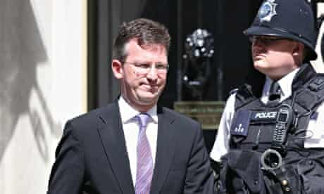 Jeremy Wright, the new attorney general, departs 10 Downing Street.
