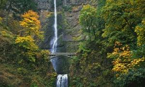 Multnomah Falls in the Columbia River Gorge Scenic Area.