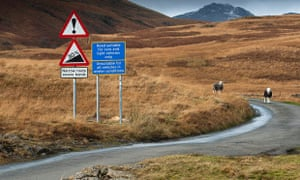 """The beginning of Hardknott pass - described by Alfred Wainwright as """"a heart-stopping series of sharp and narrow hairpin bends."""""""