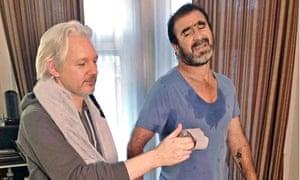 Julian Assange and Eric Cantona
