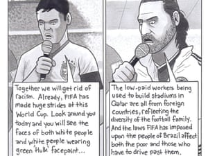 Before each quarter-final match, FIFA made the team captains read out anti-discrimination messages ...