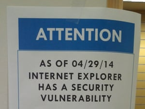 Security vulnerability warning sign