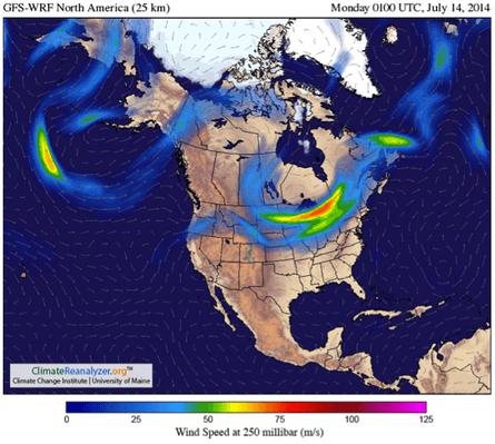 Image obtained using Climate Reanalyzer (http://cci-reanalyzer.org), Climate Change Institute, University of Maine, USA.