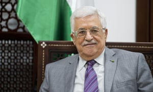 The president of the palestinian authorities, Mahmoud Abbas, in his Ramallah office.