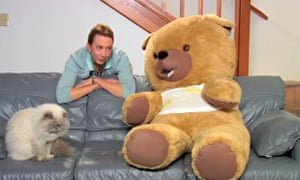 Charlie the abusive teddy bear, whose creators have filed a suit against Seth MacFarlane's Ted