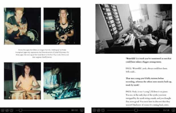 Screenshots from Paul McCartney's new iPad apps.